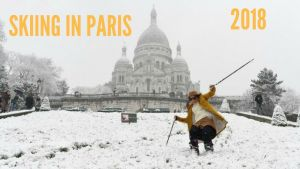 I skied Montmartre - SKI A MONTMARTRE PARIS - Février 2018